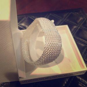Jewelry - 925 sterling silver mesh bracelet flexible large